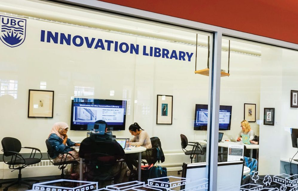 Students in the UBC Innovation Library
