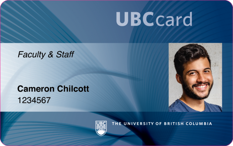 UBCcard with a man's face
