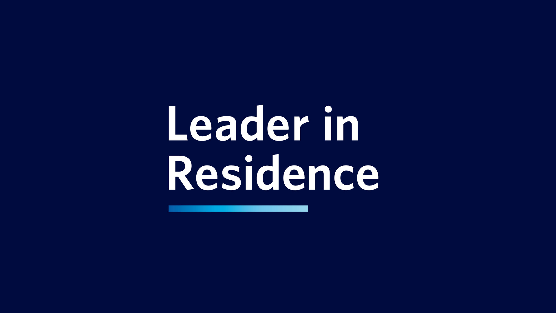 Leader in residence logo