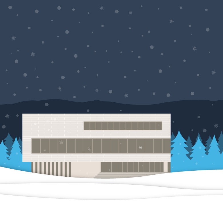 Holiday illustration of the Commons