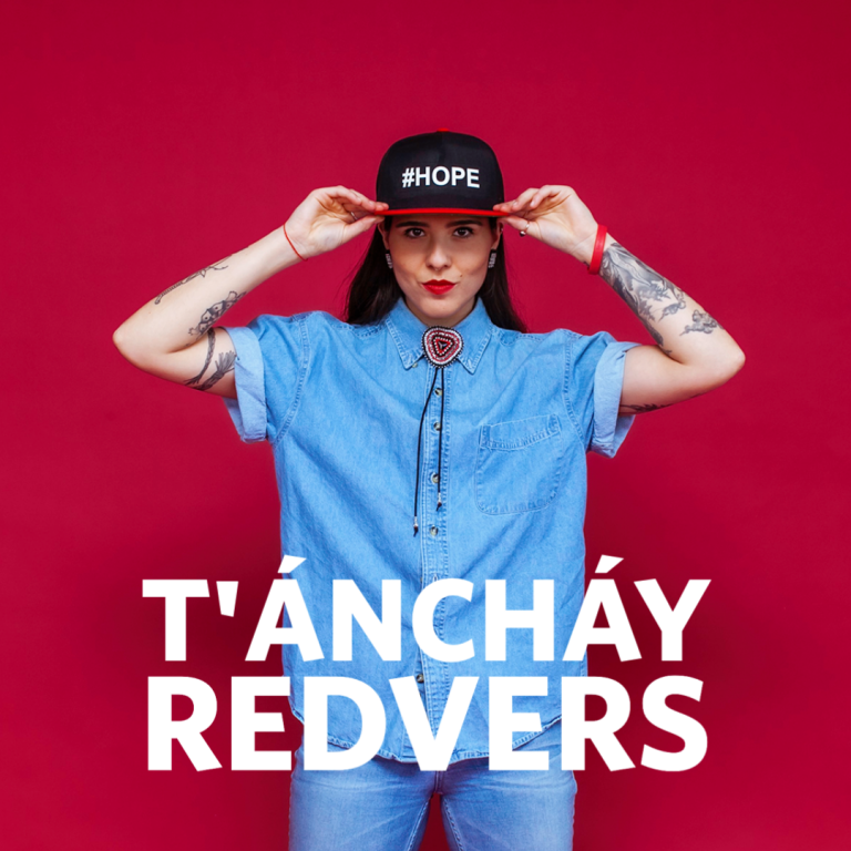 T'Anchay Redfvers with hat that says #HOPE