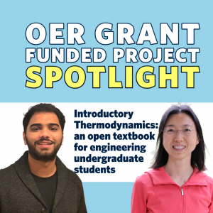 OER Project Spotlight: an open textbook for introductory thermodynamics